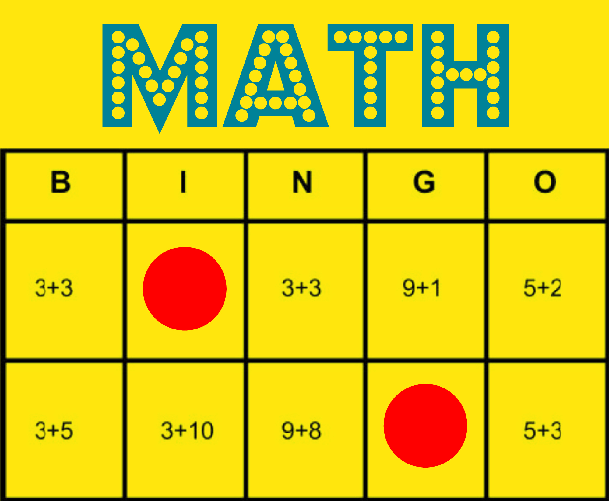 Math Bingo: Free Printable Game To Help All Students Learn