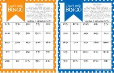 Math Bingo Printable For Kids – Free | Math Bingo, Math For