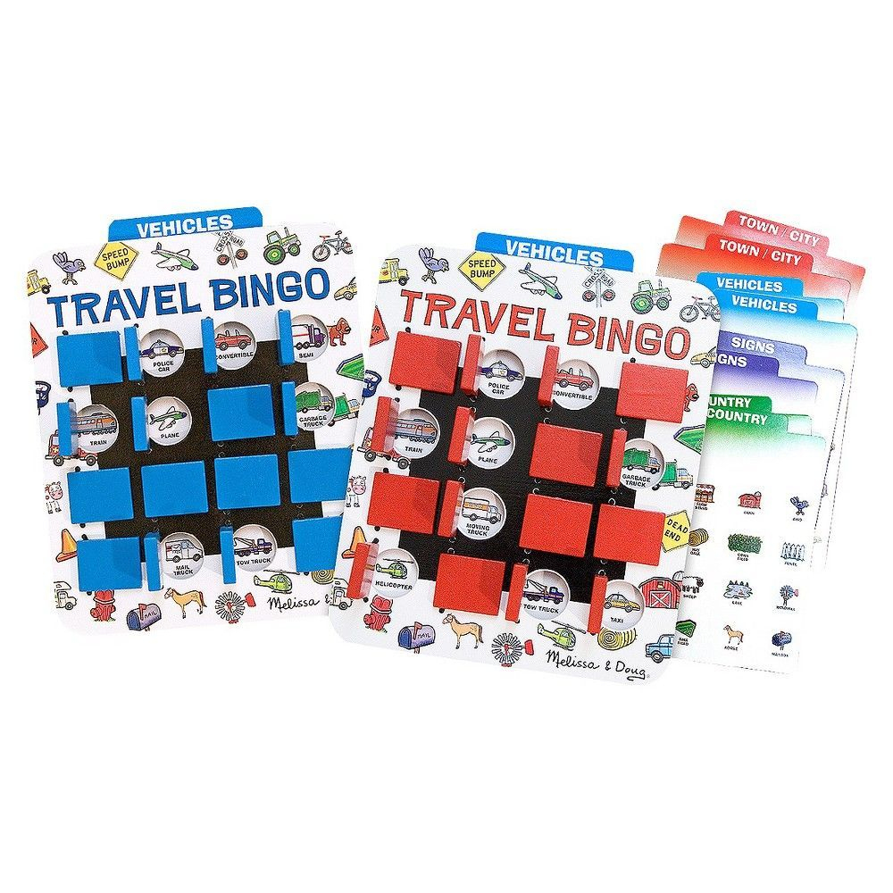 Melissa & Doug Flip To Win Travel Bingo Game - 2 Wooden Game