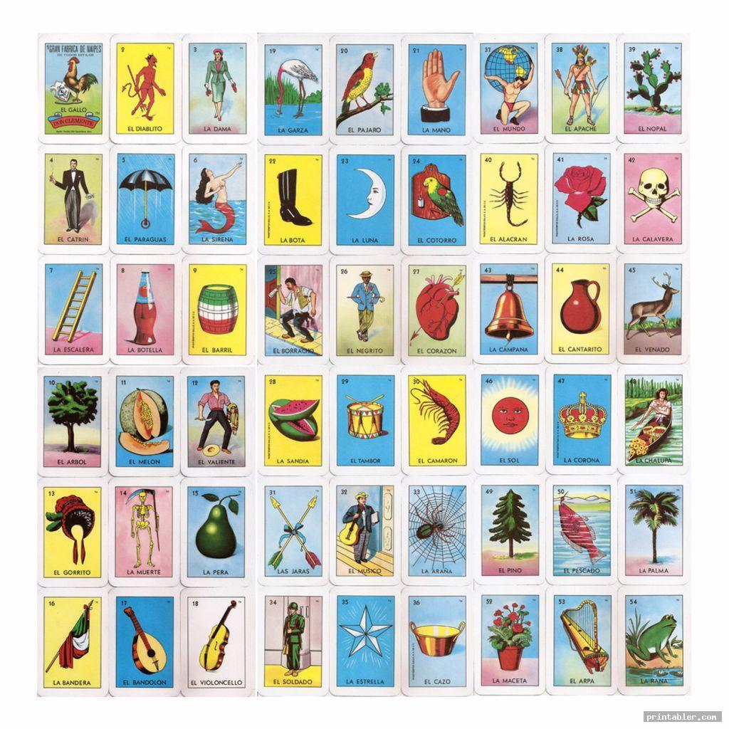 Mexican Bingo Cards Printable - Printabler