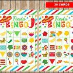 Mexican Fiesta Bingo 30 Cards, Printable Mexican Fiesta