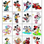 Mickey Mouse Sports Bingo   English Esl Worksheets For