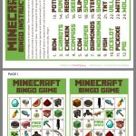 Minecraft Bingo | Minecraft Bingo, Minecraft Activities