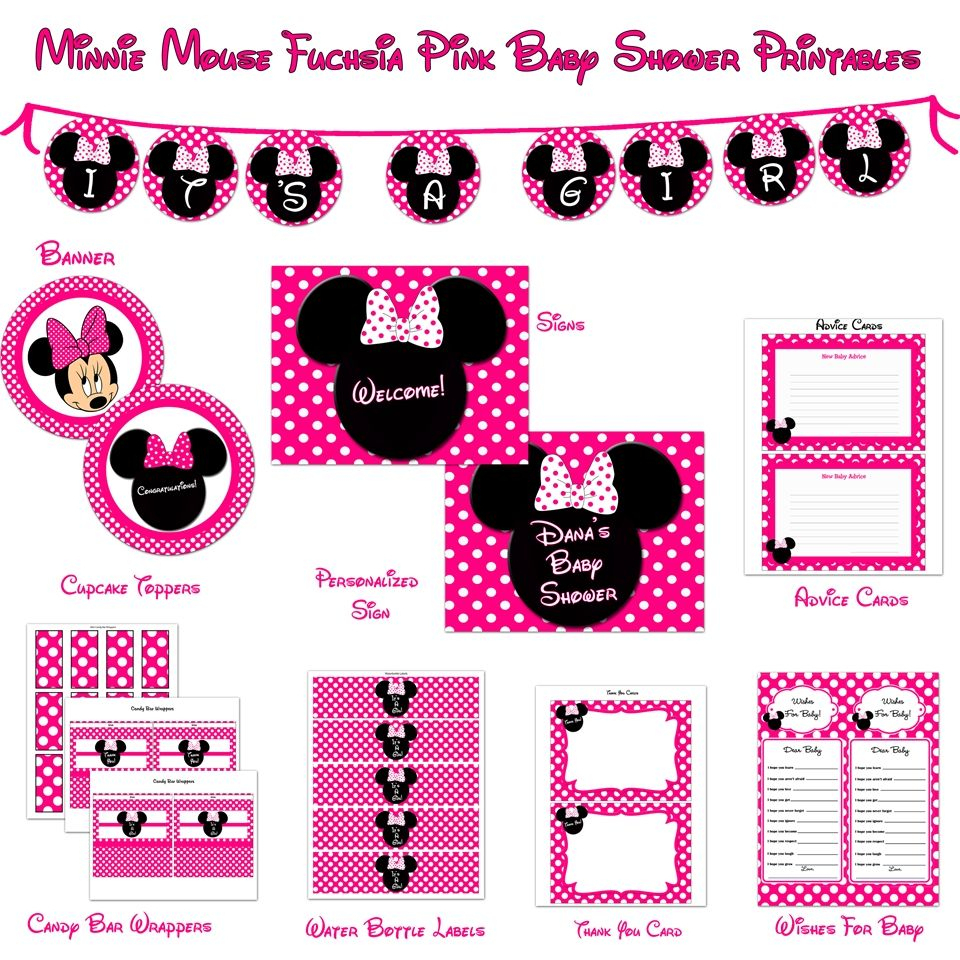 Minnie+Mouse+Baby+Shower+Printables | Minnie Mouse Baby