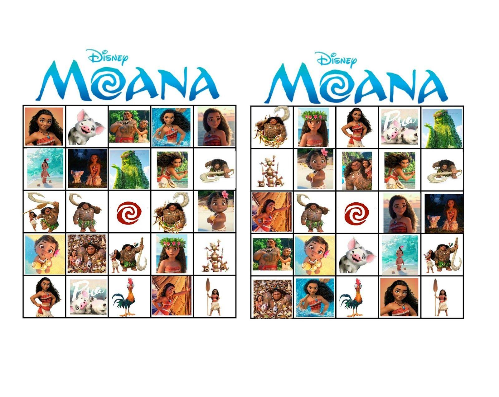 Moana Bingo   Moana, Moana Birthday Party, Moana Party
