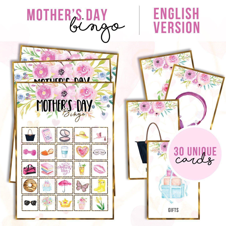 Mother's Day Class Activity, Bingo Game | Imprimibles De