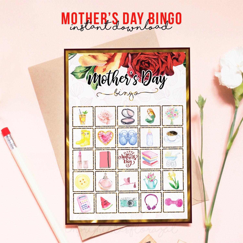 Mother's Day Prints, Bingo Game In 2020 | Printable Bingo