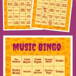 Music Bingo | Ra | Free Printable Bingo Cards, Halloween
