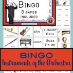 Musical Instruments Bingo: Instruments Of The Orchestra