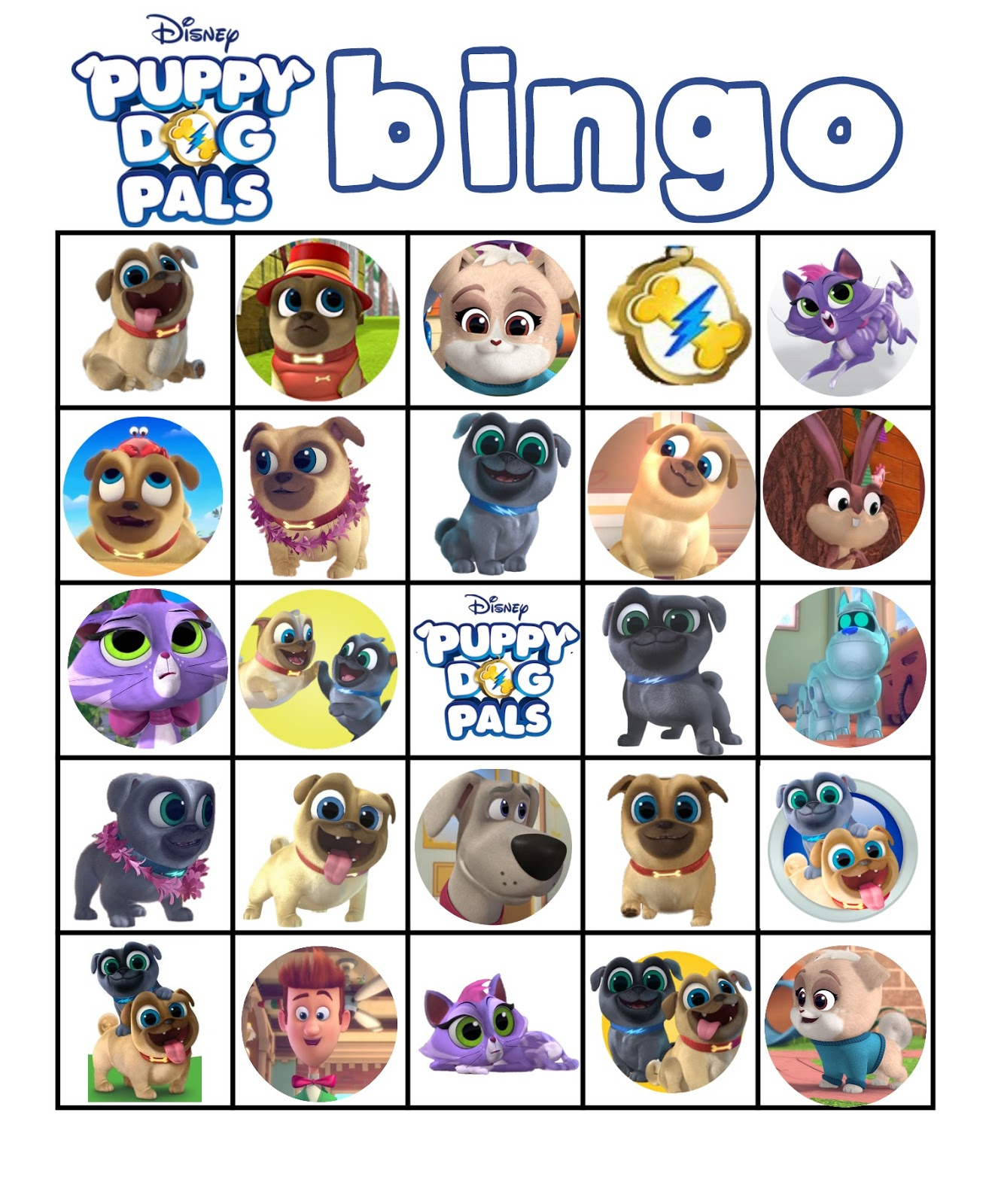 Musings Of An Average Mom: Free Printable Puppy Dog Pals Bingo