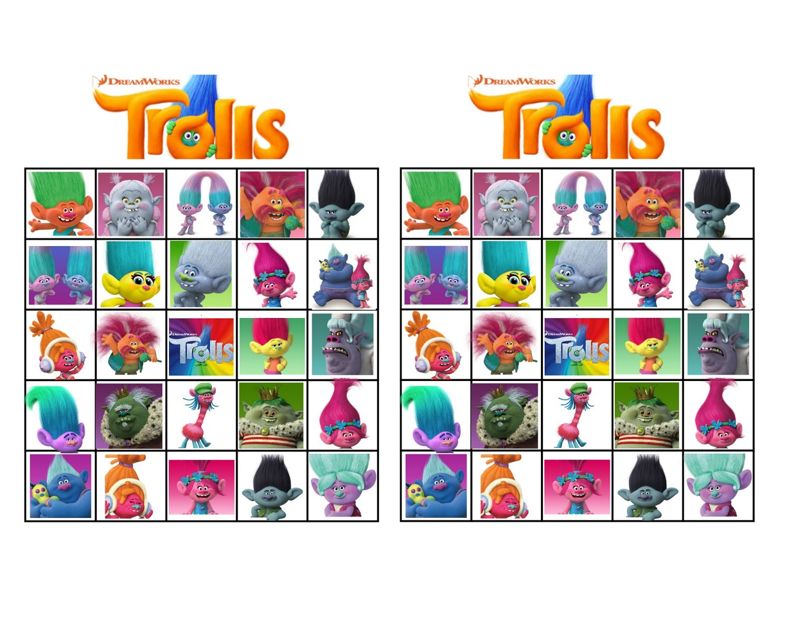 Musings Of An Average Mom: Free Printable Trolls Movie Bingo