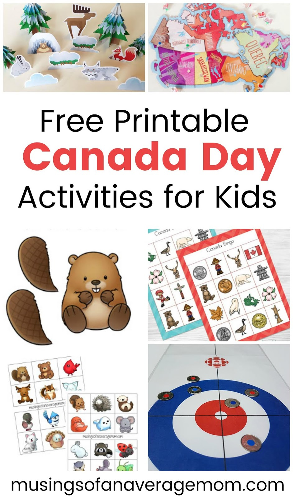 Musings Of An Average Mom: Printable Canada Day Activities