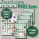 My Fashionable Designs: Girl Scouts: Juniors Bingo Game