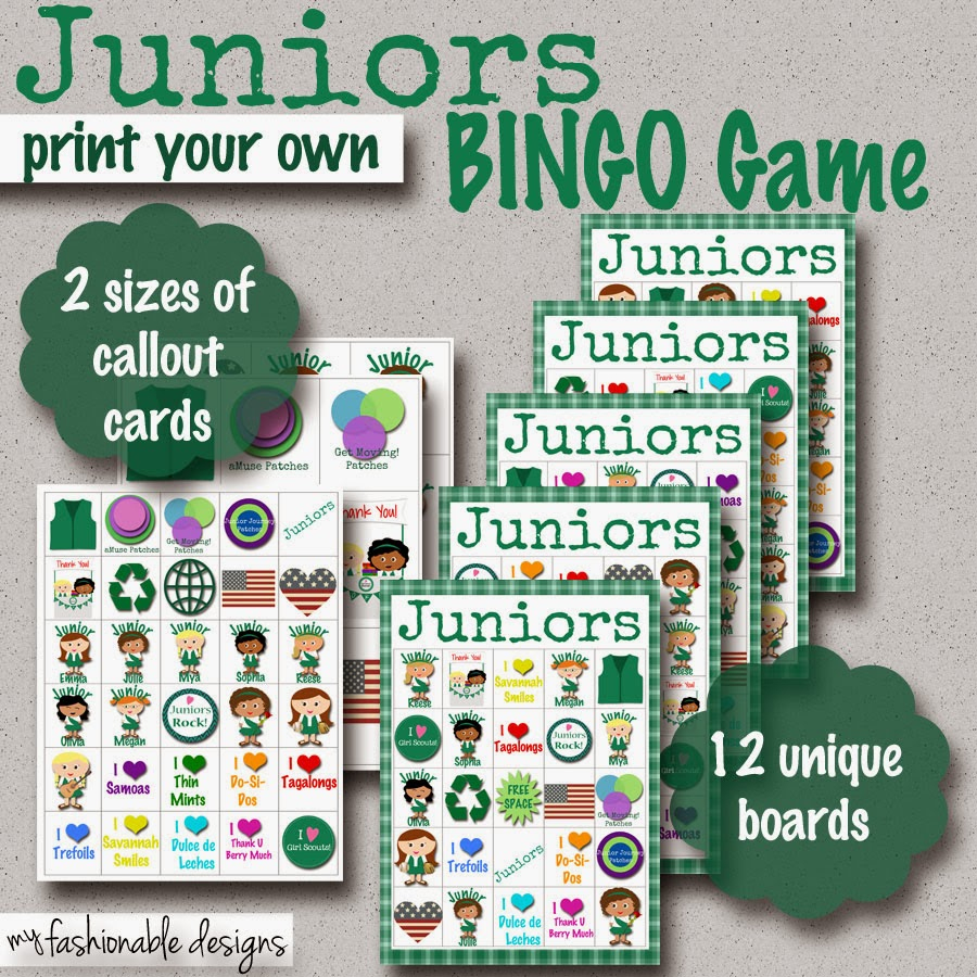 My Fashionable Designs: Girl Scouts: Juniors Bingo Game