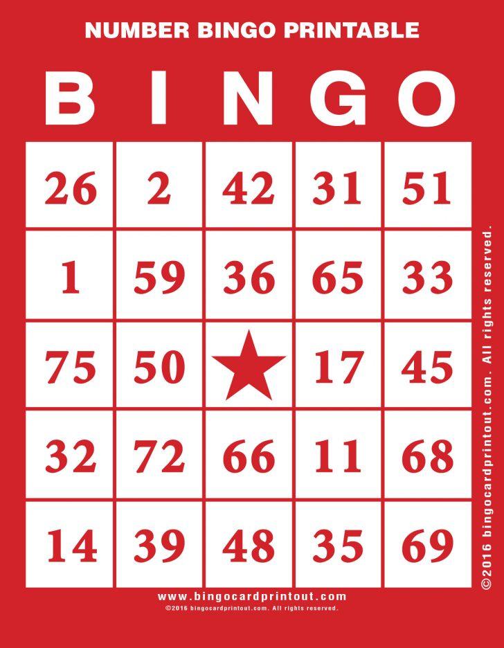 Printable Numeric Bingo Cards