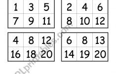 Number Bingo Worksheets | Printable Worksheets And