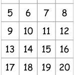 Number+Cards+1 20 | Printable Numbers, Free Printable