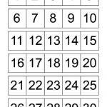 Numbers 1 30 For Kids | Printable Numbers, Free Printable