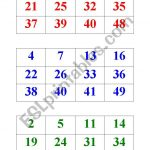 Numbers Bingo 1 50   Esl Worksheetbritishlinecerkezkoy