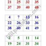 Numbers Bingo 1 50   Esl Worksheetbritishlinecerkezkoy