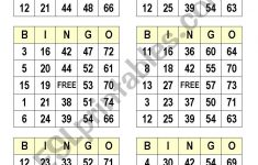 Numbers Bingo Cards – Esl Worksheetsatodude