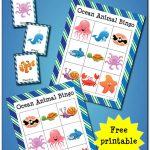 Ocean Animal Bingo {Free Ocean Printables}   Gift Of Curiosity