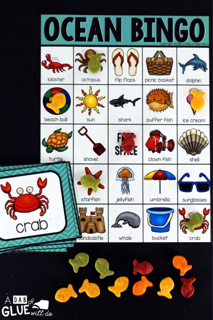 Free Printable Ocean Bingo Cards
