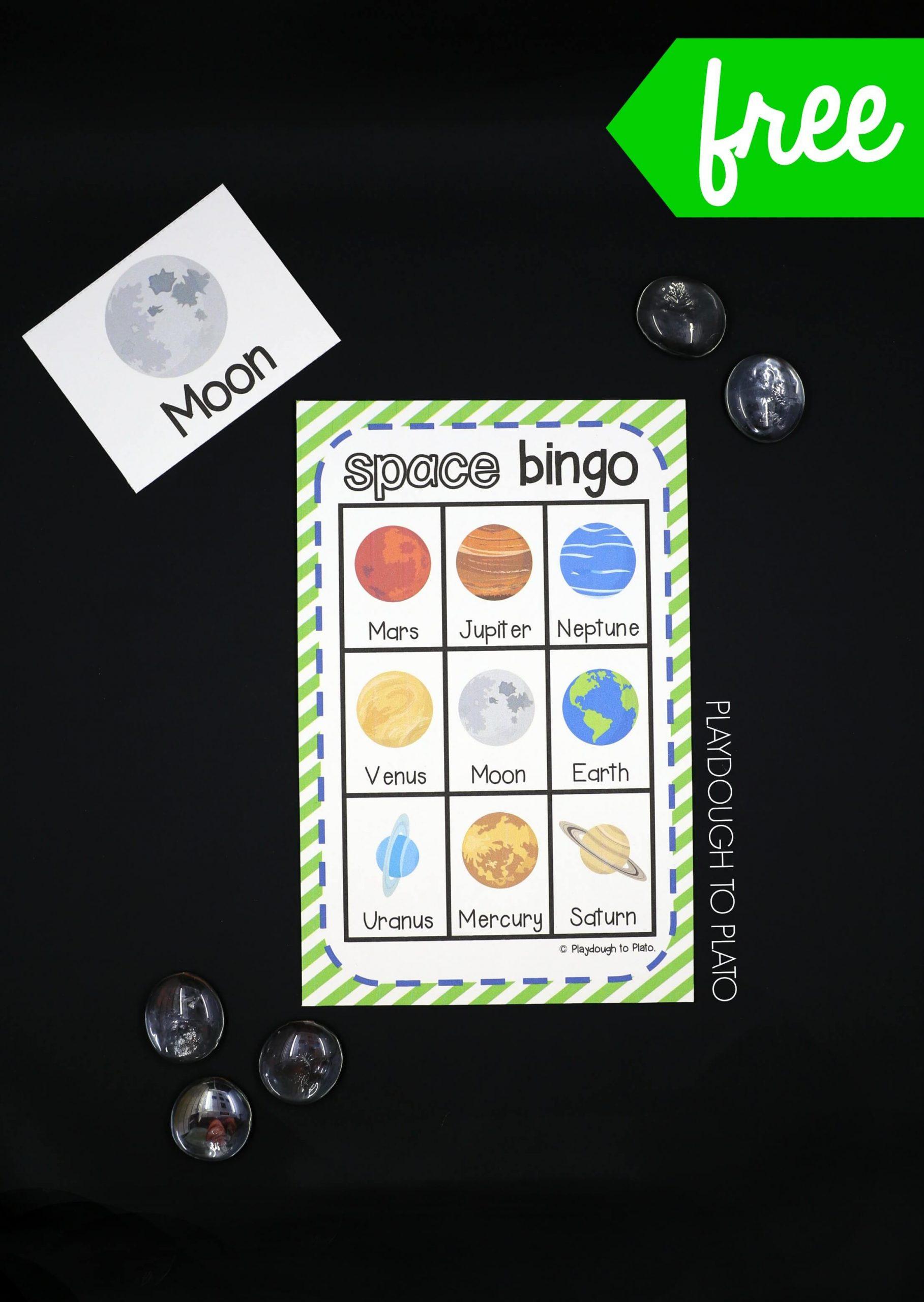 Outer Space Bingo - Playdough To Plato