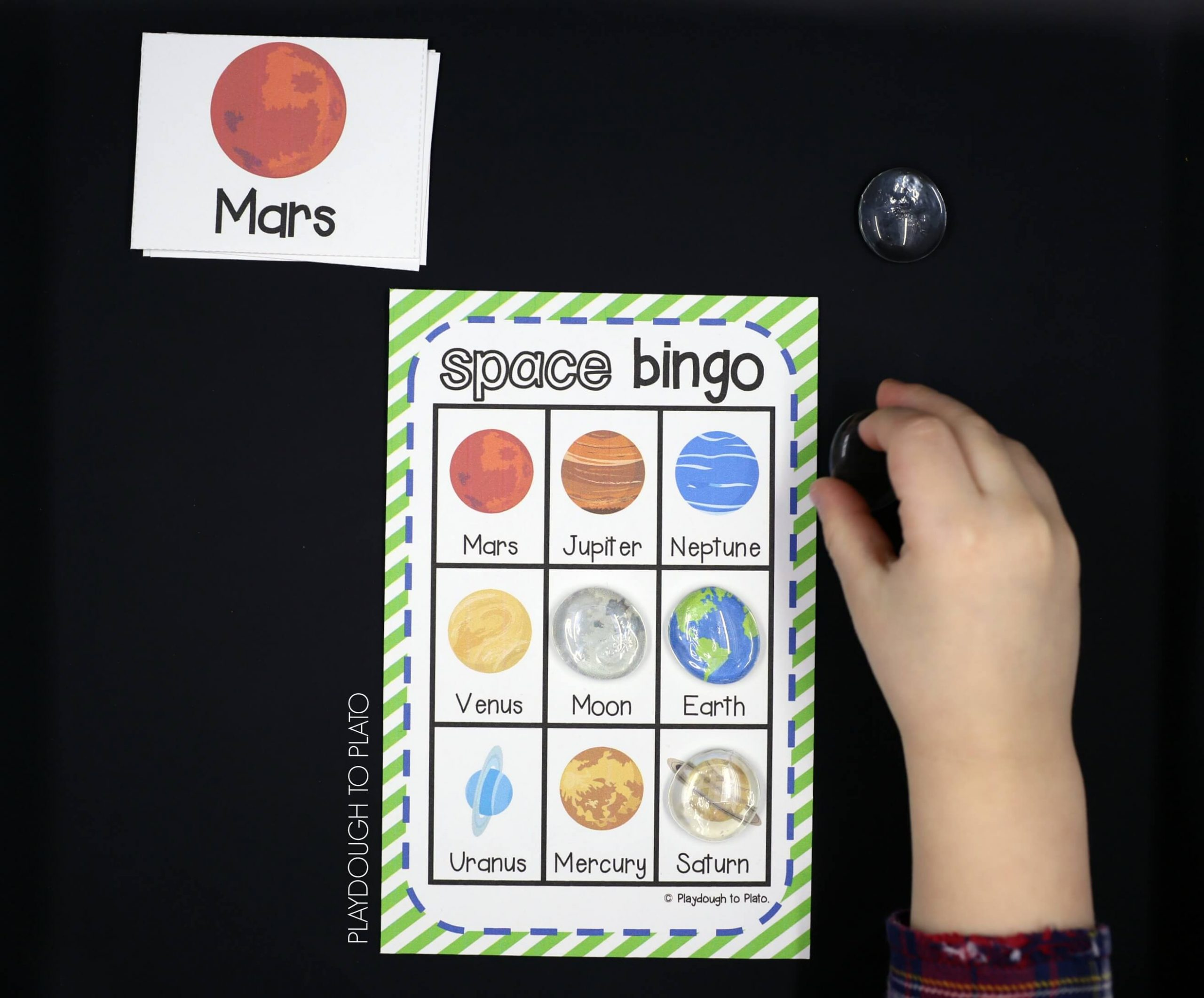 Outer Space Bingo - Playdough To Plato