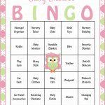 Owl Baby Bingo Cards   Printable Download   Prefilled   Baby