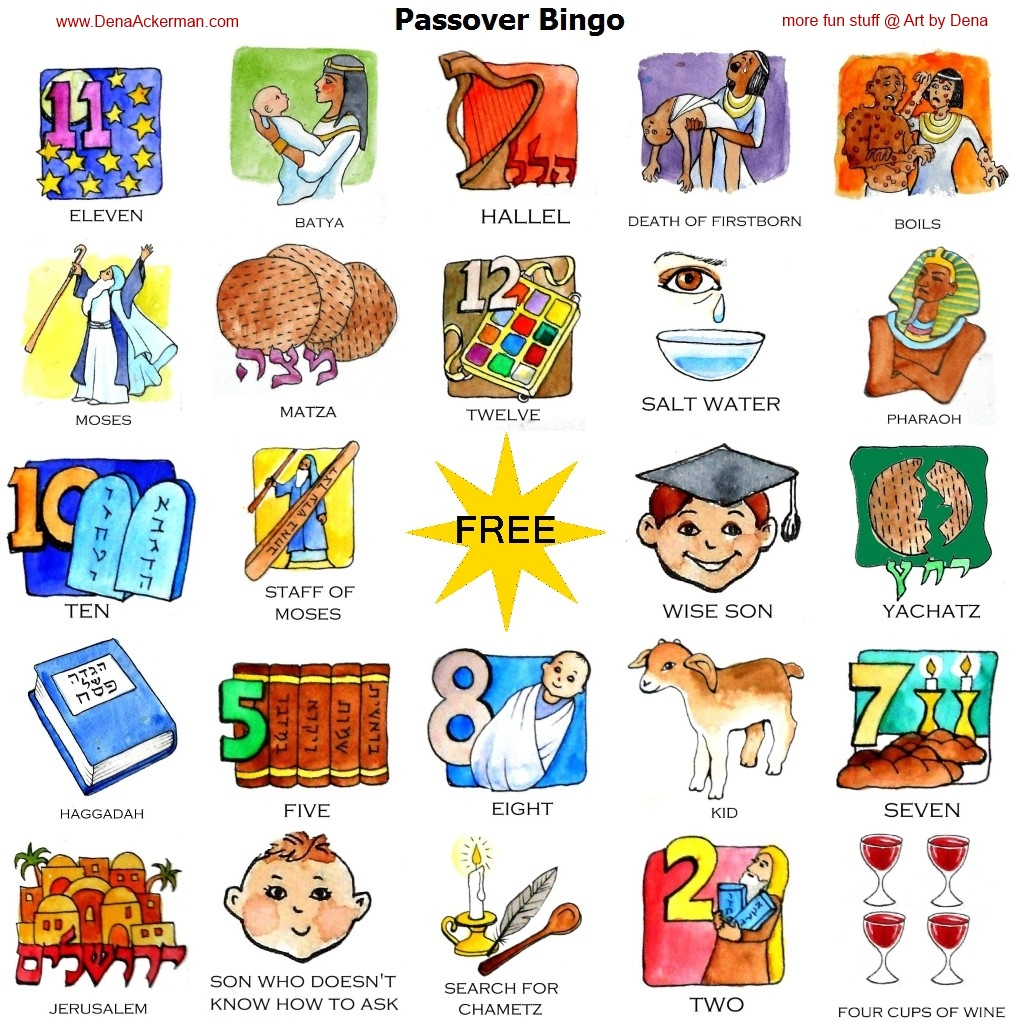 Passover Bingo Printable Files – Dena Ackerman