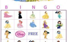 Personalized Character Bingo | Princess Bingo, Disney
