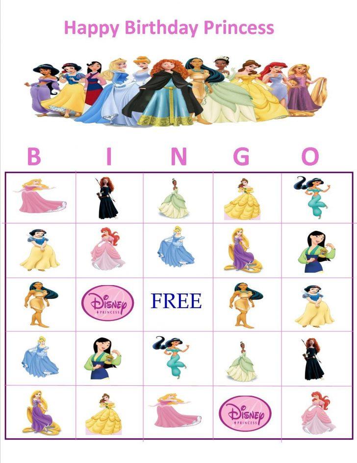 Disney Princess Bingo Cards Free Printable