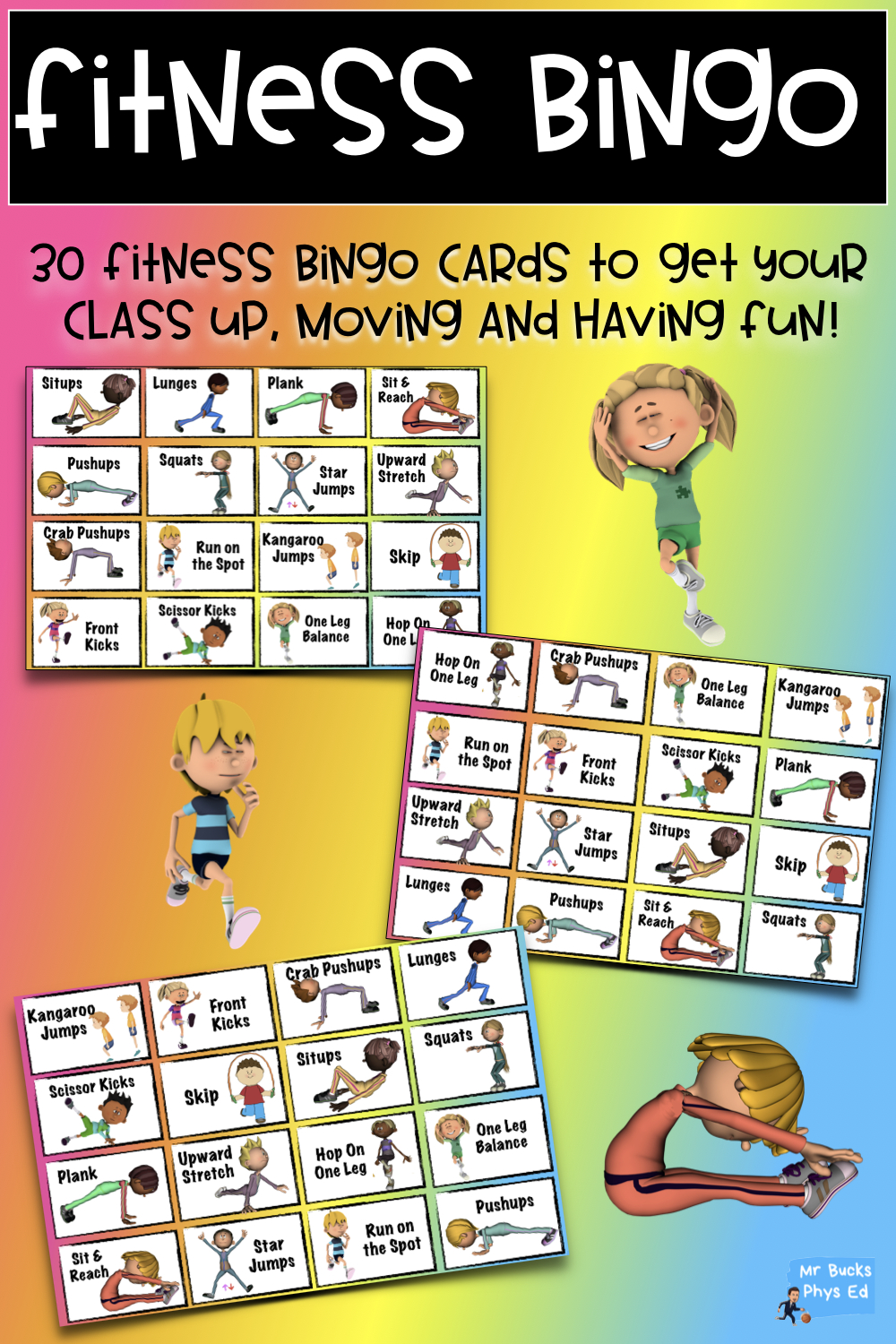 Physical Education Lesson - Fitness Bingo | Physical