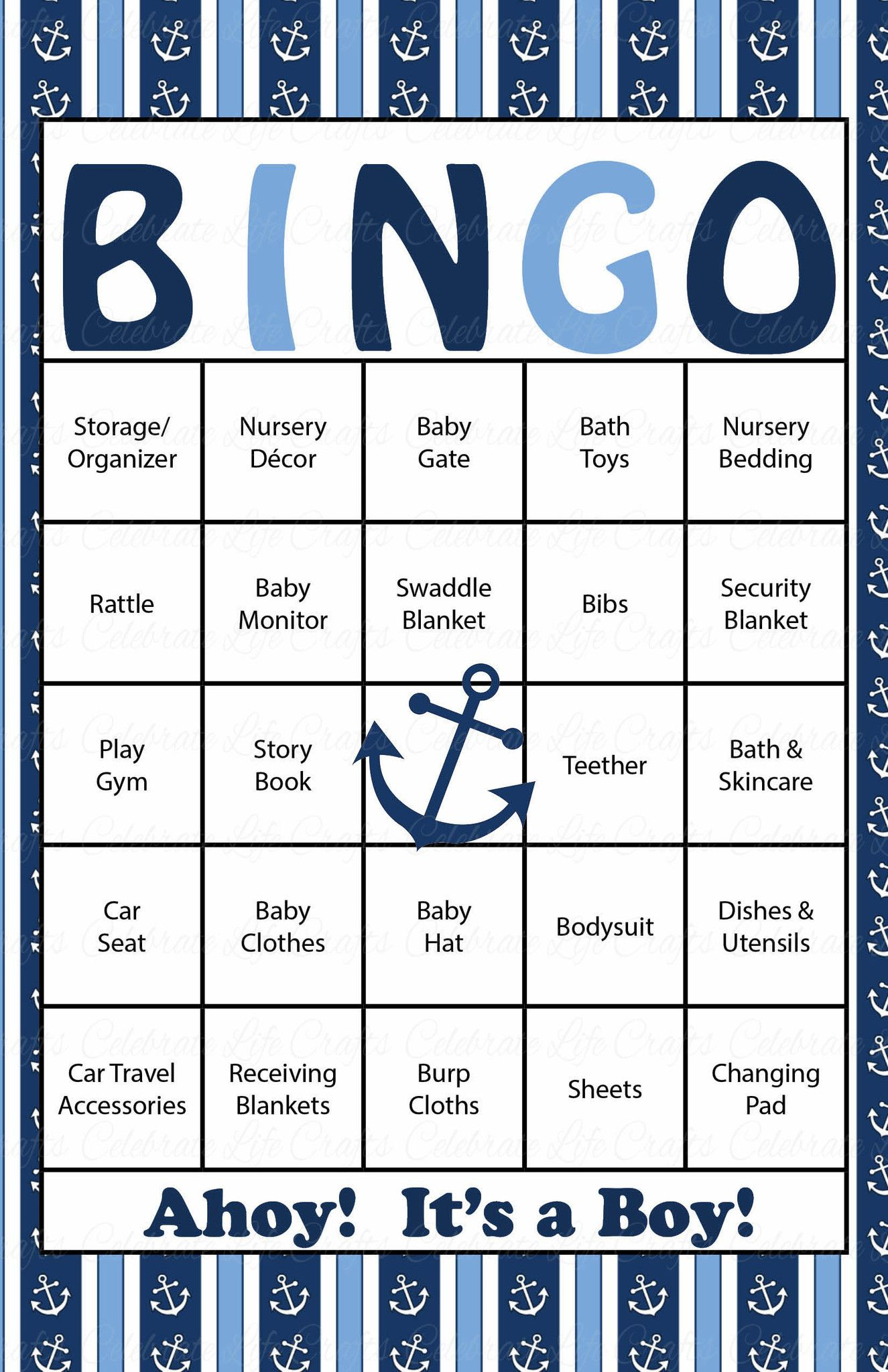 Pin On Baby Shower Bingo