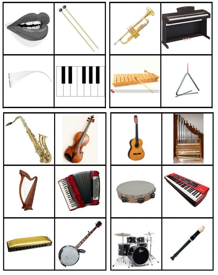 Free Printable Musical Instrument Bingo Cards