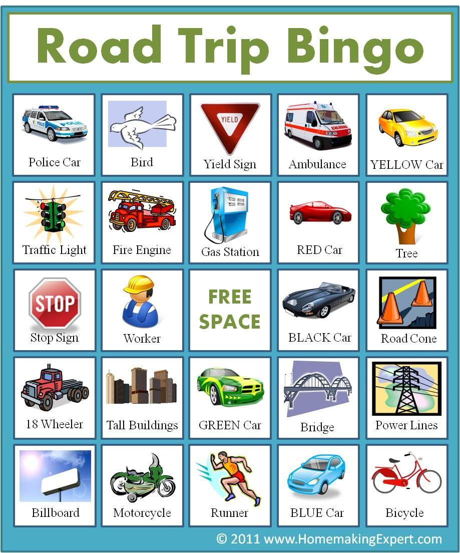 Pinalison Del Preto On For The Kids | Road Trip Bingo
