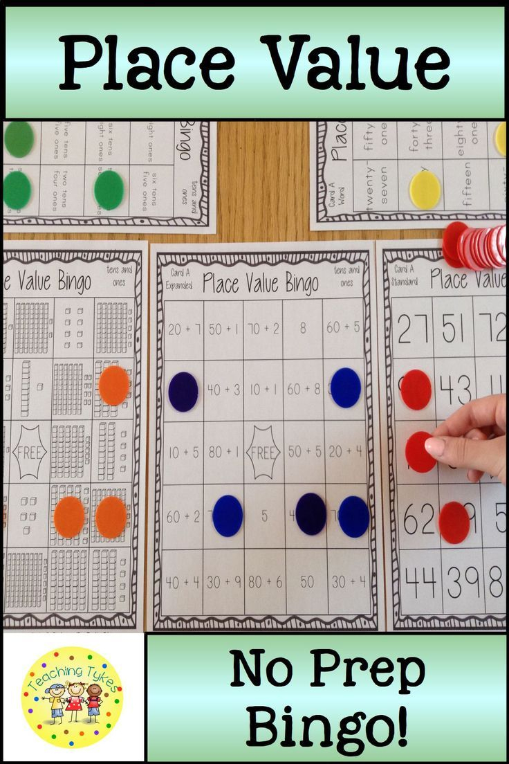 Place Value Bingo Tens And Ones | Place Values, Tens, Ones