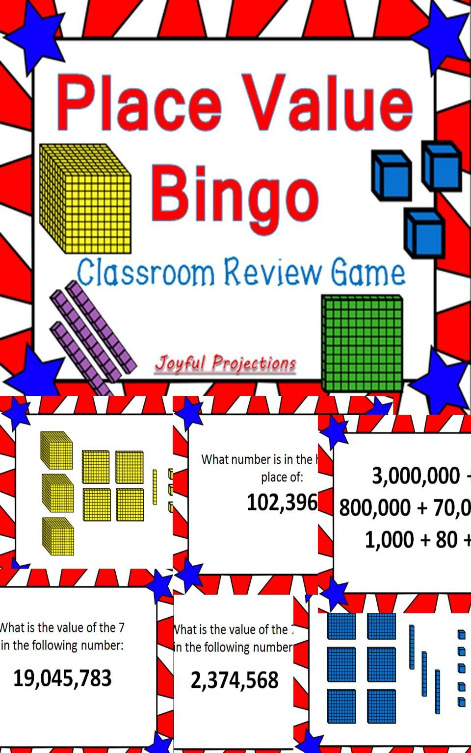 Place Value Bingo Whole Group Review Game | Place Values