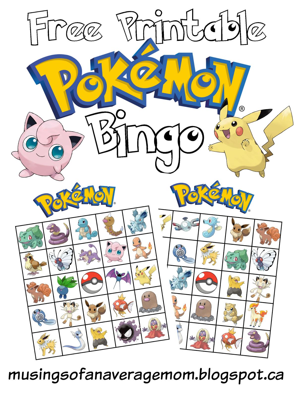 Pokemon Bingo - Feestjes, Feestje En Voor Kinderen