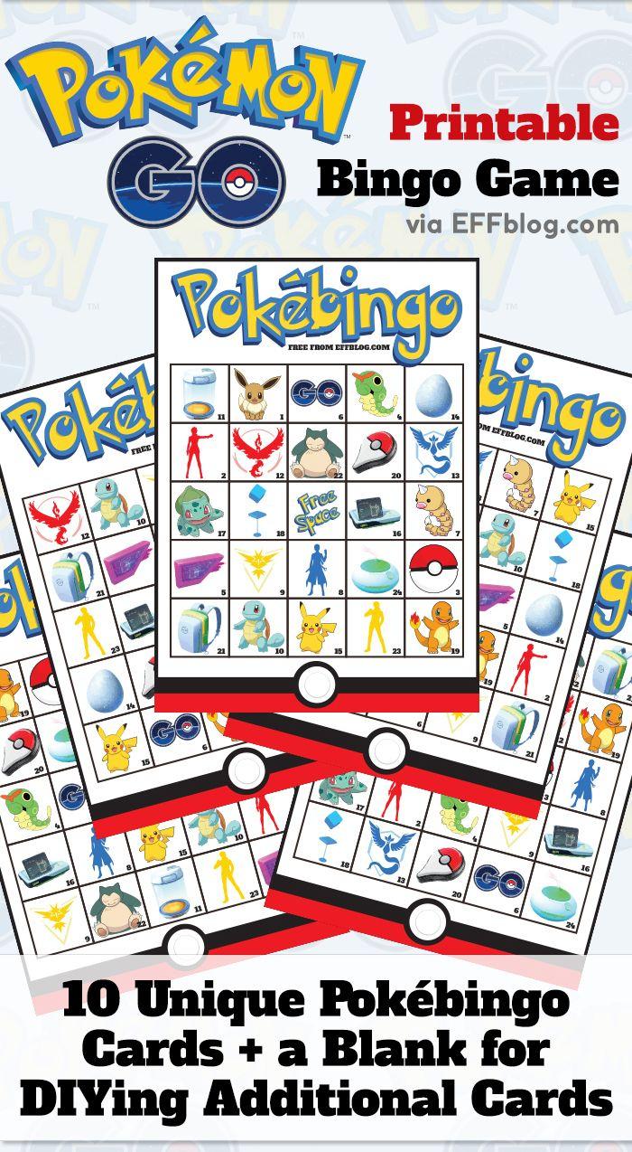 Pokémon Go: Pokébingo Free Printable Bingo Game | Pokemon