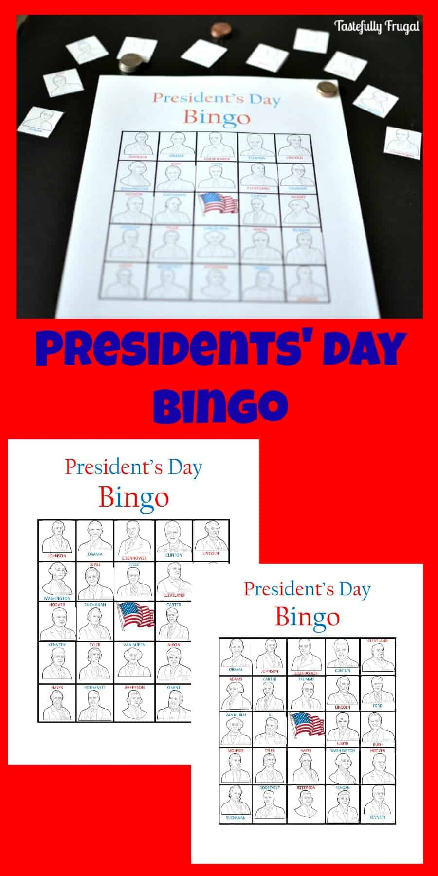 Presidents' Day Bingo - Tastefully Frugal