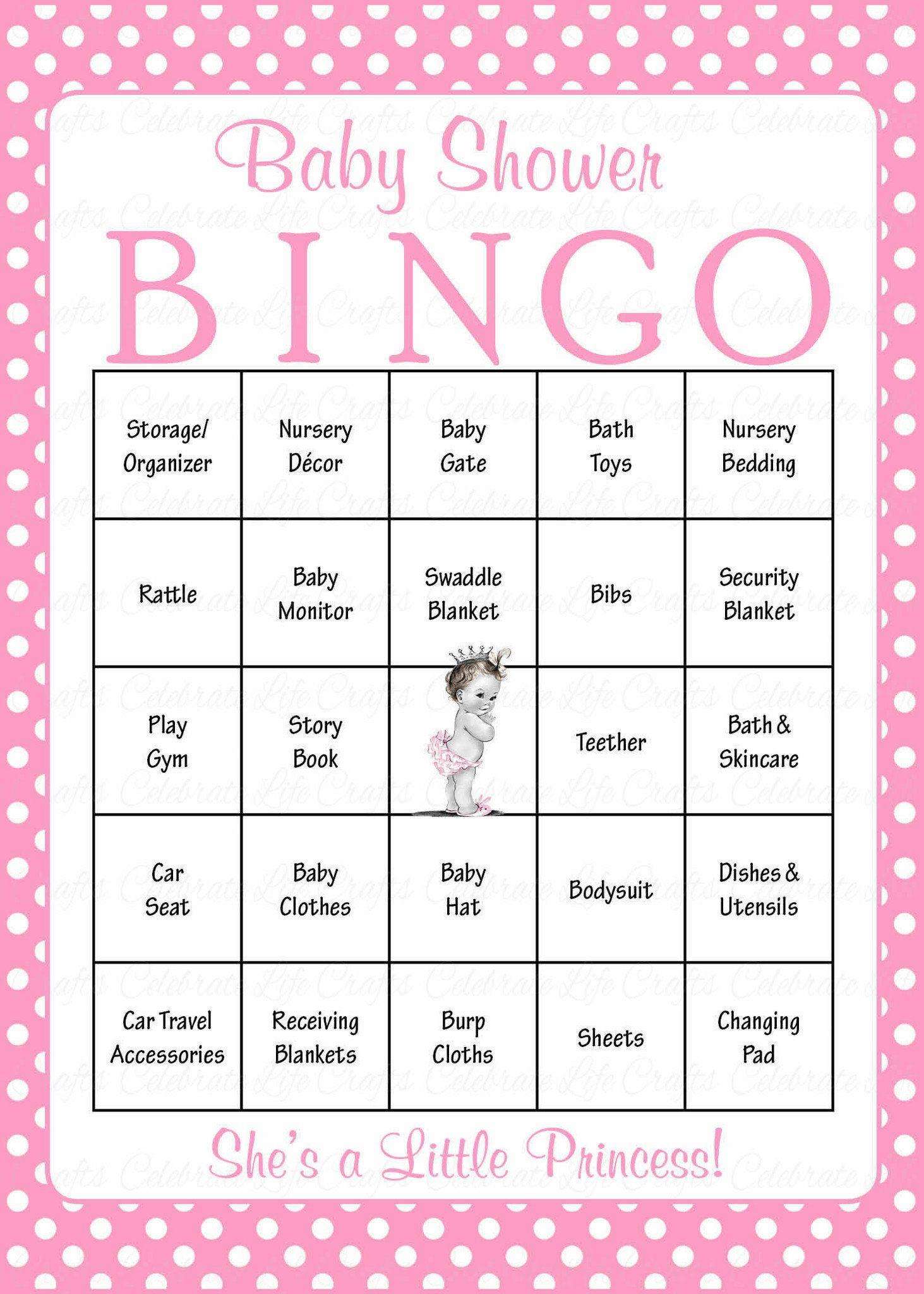 Princess Baby Bingo Cards - Printable Download - Prefilled