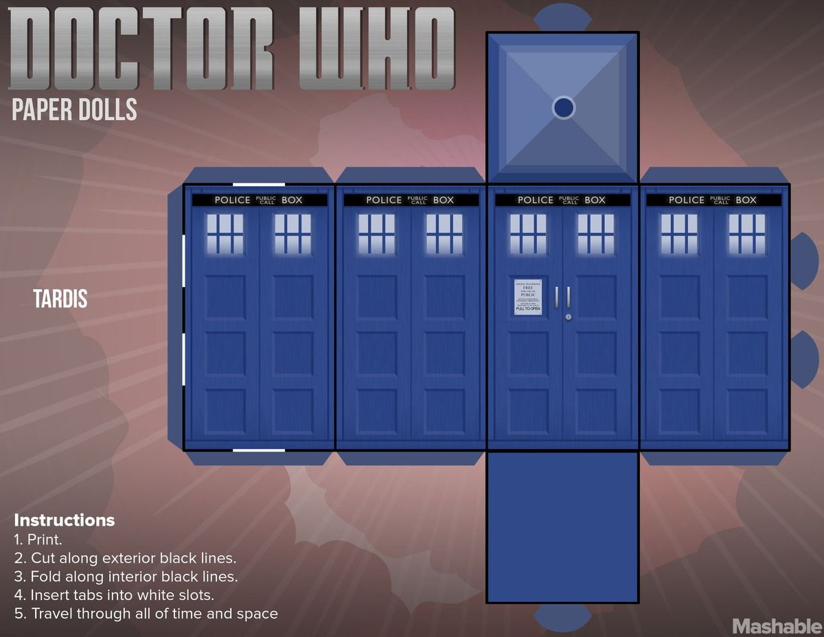 Print Your Own 'doctor Who' Paper Dolls | Doctor Who