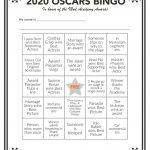 Printable 2020 Oscars Bingo In 2020   Oscar Games
