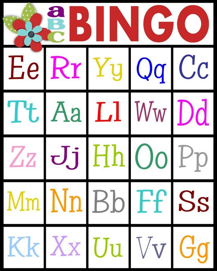 Printable Spanish Alphabet Bingo Cards