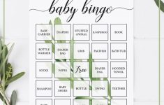 Printable Baby Bingo Game Cards – Greenery In 2020