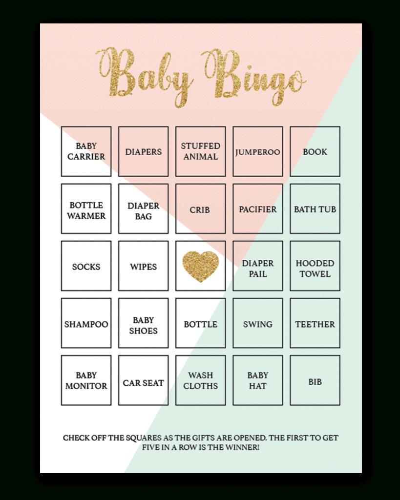 Printable Baby Bingo Game Cards - Pastel | Baby Shower Bingo