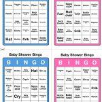Printable Baby Shower Bingo   50 Cards (Pink And Blue)   Printable Games