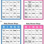 Printable Baby Shower Bingo   50 Cards (Pink And Blue)   Printable Games